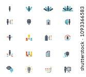 human resources vector icon set | Shutterstock .eps vector #1093366583