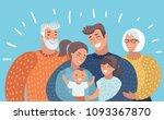 vector cartoon illustration of... | Shutterstock .eps vector #1093367870