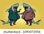 businessman shark business... | Shutterstock .eps vector #1093372556