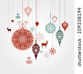 christmas background | Shutterstock .eps vector #109338194