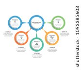 business infographic design... | Shutterstock .eps vector #1093385603
