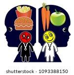 creating healthy eating habits. ...   Shutterstock . vector #1093388150