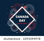 maple leaf with firework poster ... | Shutterstock .eps vector #1093394978