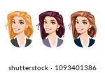 cartoon beautifull young... | Shutterstock .eps vector #1093401386