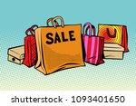 bags sale  season discount... | Shutterstock .eps vector #1093401650