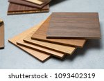 samples of material  wood   on... | Shutterstock . vector #1093402319