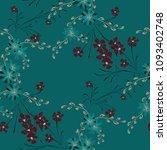 little floral seamless pattern... | Shutterstock .eps vector #1093402748