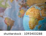 africa and middle east map on a ... | Shutterstock . vector #1093403288