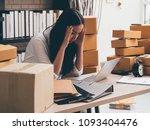 asain woman working using... | Shutterstock . vector #1093404476