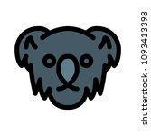 herbivorous koala bear | Shutterstock .eps vector #1093413398