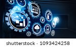 smart factory and industry 4.0... | Shutterstock . vector #1093424258