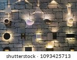 led wall lights. | Shutterstock . vector #1093425713