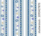 cute seamless pattern with blue ... | Shutterstock .eps vector #1093427870