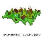 eurasia isometric map animal... | Shutterstock .eps vector #1093431590
