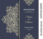 save the date invitation card... | Shutterstock .eps vector #1093431890