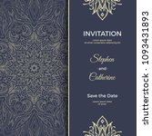 save the date invitation card... | Shutterstock .eps vector #1093431893