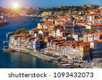 panoramic view of old city of... | Shutterstock . vector #1093432073