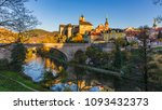 colorful town loket in autumn... | Shutterstock . vector #1093432373