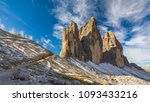 hiking trail in tre cime di... | Shutterstock . vector #1093433216