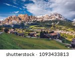 view of cortina d'ampezzo with... | Shutterstock . vector #1093433813