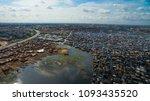 aerial view of makoko slum... | Shutterstock . vector #1093435520