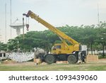 rough terrain crane while...   Shutterstock . vector #1093439060