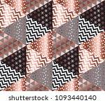 luxury rose gold xmas geometric ... | Shutterstock .eps vector #1093440140