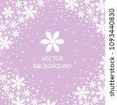 vector background white flowers ... | Shutterstock .eps vector #1093440830