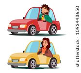driver people. man  woman... | Shutterstock . vector #1093443650
