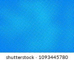 blue comic pop art halftone...   Shutterstock .eps vector #1093445780