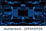 hud futuristic elements data... | Shutterstock .eps vector #1093445924