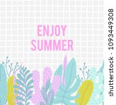 summer time illustration. hello ... | Shutterstock .eps vector #1093449308