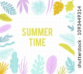 summer time illustration. hello ... | Shutterstock .eps vector #1093449314