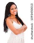 beautiful african descent with... | Shutterstock . vector #1093450013