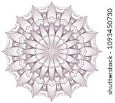 circular intricate mandala... | Shutterstock .eps vector #1093450730
