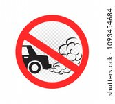 no idling turn engine off sign... | Shutterstock .eps vector #1093454684