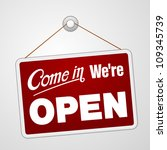 we are open sign   illustration ... | Shutterstock .eps vector #109345739