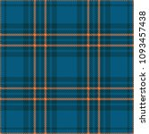 seamless plaid check pattern in ... | Shutterstock .eps vector #1093457438
