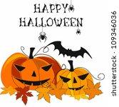 vector halloween  background... | Shutterstock .eps vector #109346036