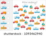how many counting game with... | Shutterstock .eps vector #1093462940