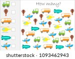 how many counting game with... | Shutterstock .eps vector #1093462943
