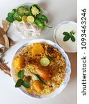 chicken bombay biryani ... | Shutterstock . vector #1093463246