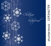christmas snowflakes background | Shutterstock .eps vector #109346759