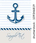 nautical background with anchor | Shutterstock .eps vector #109346819