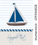 nautical background with boat | Shutterstock .eps vector #109346828