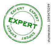 grunge green expert round... | Shutterstock .eps vector #1093470299