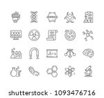 set of science outline icons... | Shutterstock .eps vector #1093476716
