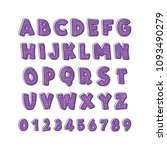 latin alphabet. children's font ... | Shutterstock .eps vector #1093490279