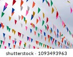 colorful pennant isolated ... | Shutterstock . vector #1093493963