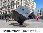 march 31  2018  the alamo cube... | Shutterstock . vector #1093494413
